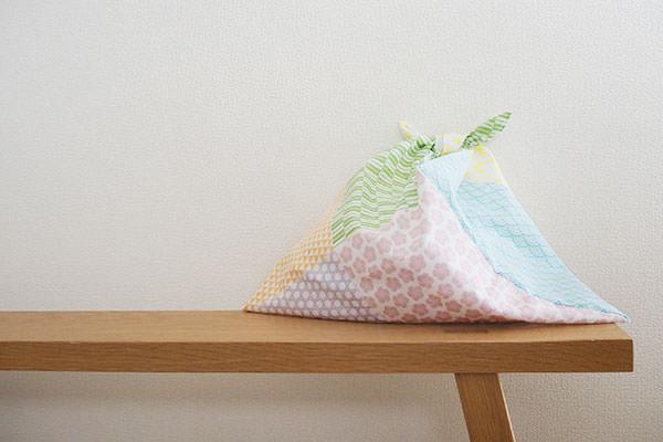 手ぬぐい1枚で作るあずま袋エコバッグの作り方