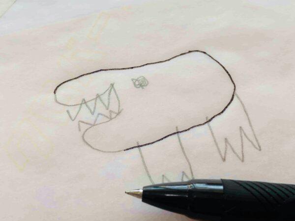 子どものイラストを刺繍で残そう!〈第一弾〉の作り方