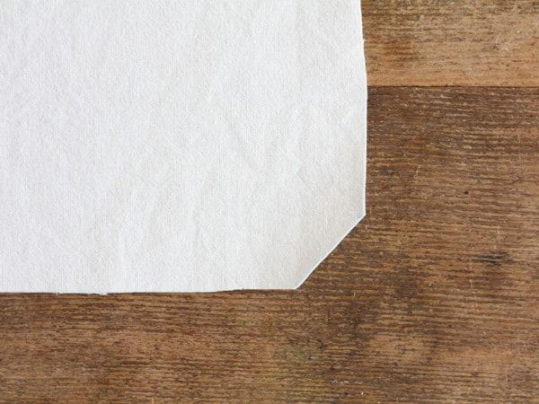 フラットに仕上げる1枚仕立てのキッチンクロスの作り方