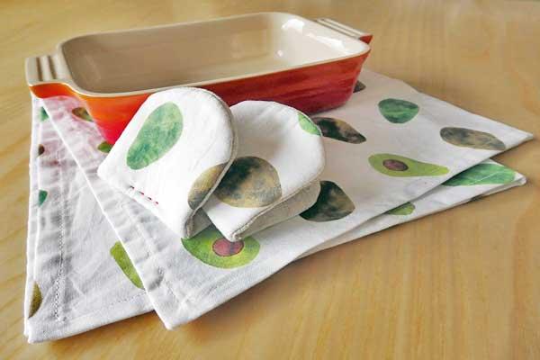 キッチンで使えるマルチクロスとミニ鍋つかみの作り方