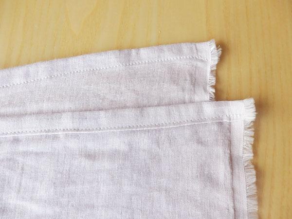 巾広ガーゼ50cm使い切り。3WAYストールの作り方