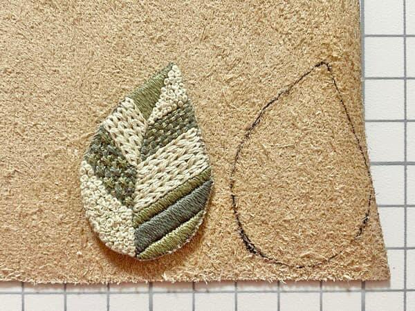 葉っぱのブローチの作り方