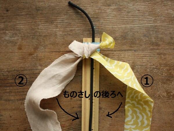 縫わない!巻くだけ!簡単シュシュの作り方