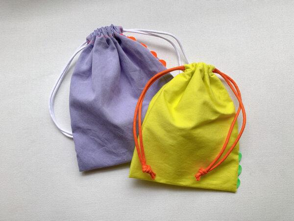 ひと工夫でかわいく!山道テープを使ったアレンジ巾着の作り方