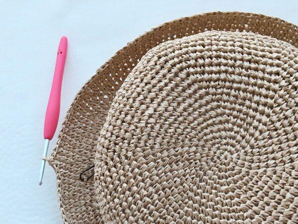 麦わら風!夏帽子の作り方