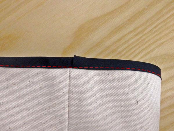 ハトメで本格的。巾着バッグの作り方