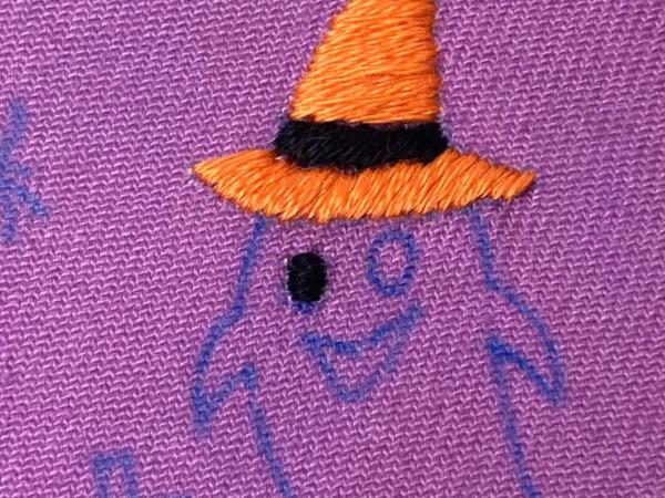 【図案つき】ハロウィンに!おばけの刺繍の作り方