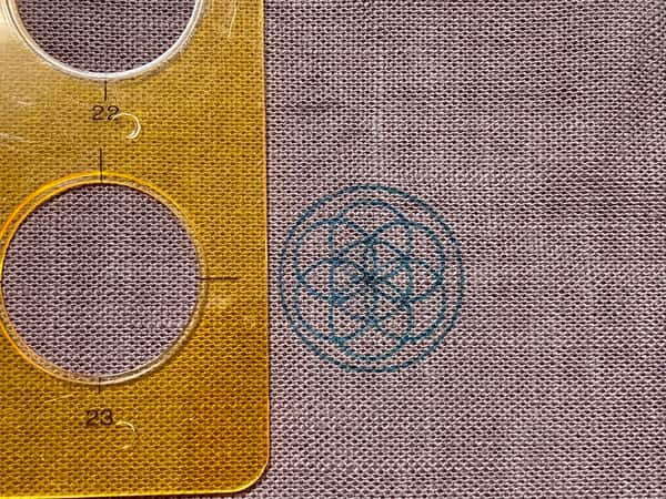 神聖幾何学模様で作るスマホリングの作り方
