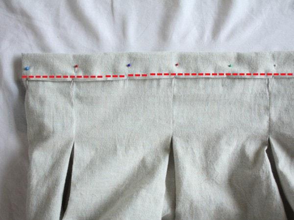 ウエスト周りすっきり!タック入りゴムスカートの作り方