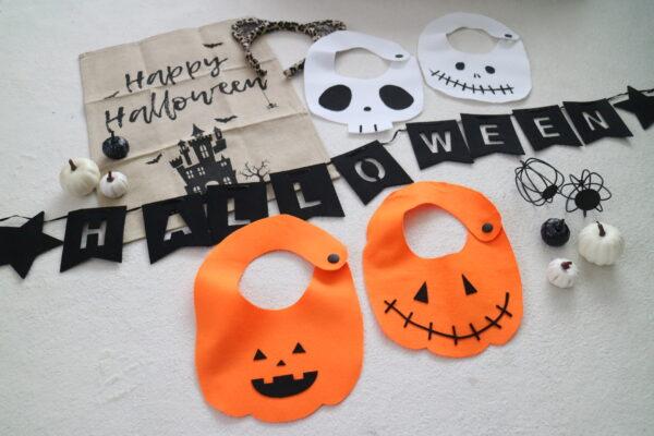 縫わずに作れる!ハロウィンスタイ(かぼちゃ)の作り方